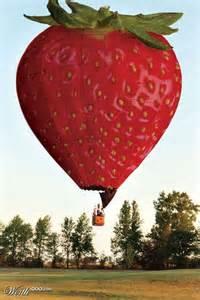 Strawberry Hot Air Balloon
