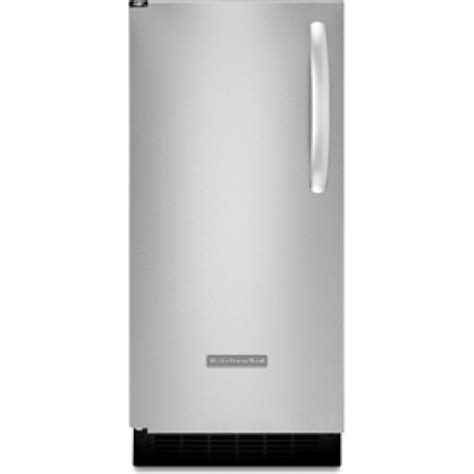 Kitchenaid Undercounter Refrigerator With Maker by Kitchenaid Kuic15plxs 15 Quot Built In Maker With 25 Lbs