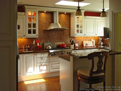 kitchen tile backsplash ideas with white cabinets designer kitchens la pictures of kitchen remodels