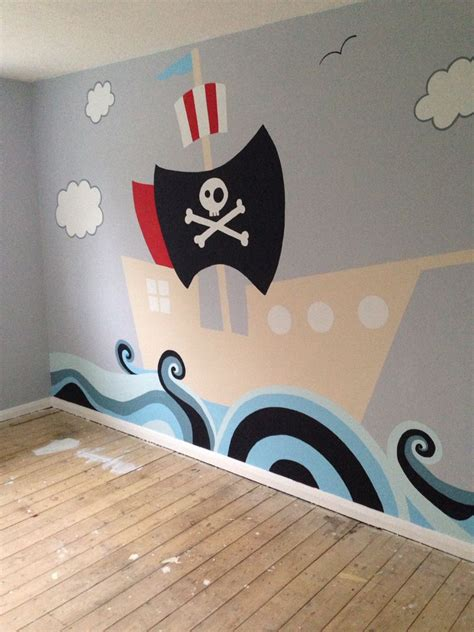 Kinderzimmer Wandgestaltung Pirat by Pirate Boat Wall Mural For My Two Boys Baby In 2019