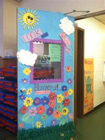 my preschool class spring door decorations school