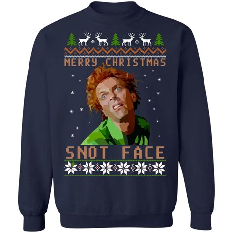 drop dead fred snot face christmas sweater hoodie long