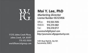 Business card for Wfg business card