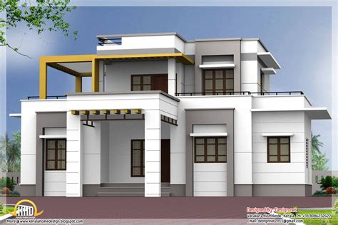 brown  white exteriour painted kerala homes google search small house exteriors flat