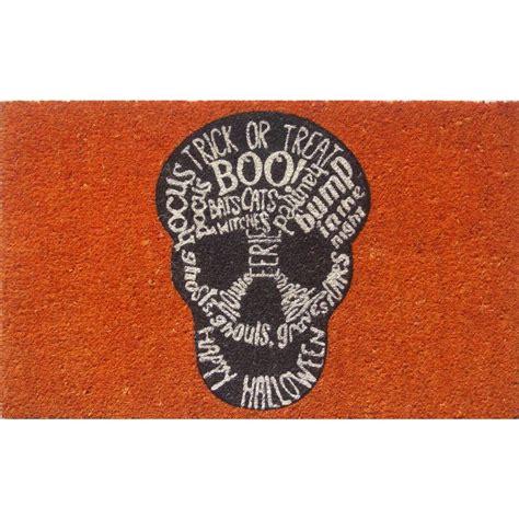 entryways doormat entryways skull 17 in x 28 in non slip coir door mat