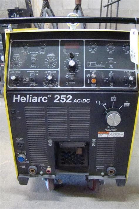 esab heliarc welder 252 ac dc 36201 230 460 575 1 phase tr j624005 ebay