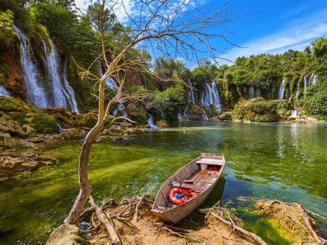 Waterfall Kravice In Bosnia And Herzegovina Beautiful ...