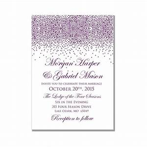 printable wedding invitation purple wedding purple With wedding invitation templates for microsoft word 2007