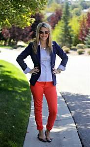 25+ best ideas about Orange pants outfit on Pinterest | Orange jeans Orange smart casual ...