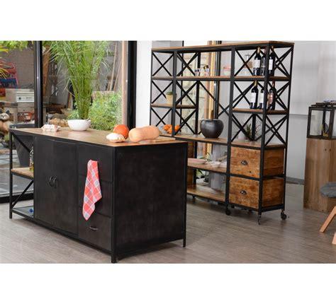 meuble de cuisine ilot central îlot central de cuisine industriel quot kraft quot 7372