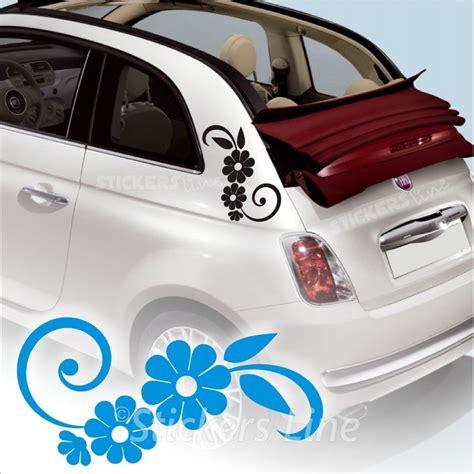 adesivi auto fiori kit adesivi fiori 3 smart fiat 500 fiori auto moto fiore