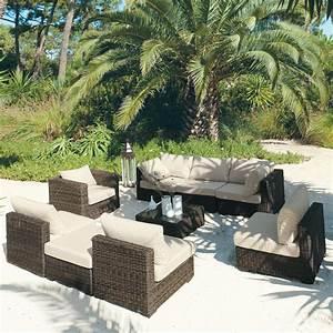 salon resine tressee mobilier canape deco With canape resine tressee exterieur 2 salon de jardin selection et conseils pour bien choisir