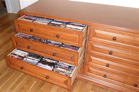 build a dvd cabinet dvd storage drawer plans cherry wood carving
