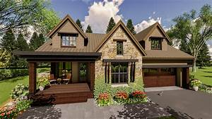 Craftsman, House, Plan, With, Upper, Level, In-law, Suite, -, 14658rk