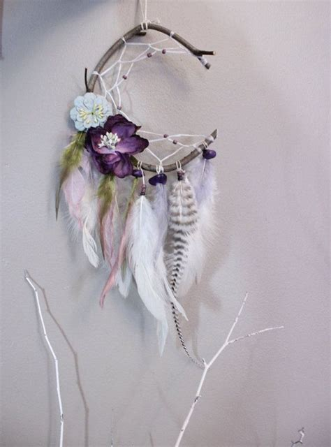 crescent moon purple fairy dreamcatcher  nanepashemetcrtions horticultural therapy dream