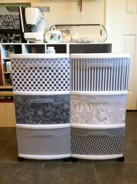 Decorate your plastic bins.   home   Pinterest   The