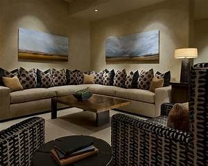 Modern spanish traditional interior design by ownby for Family room design