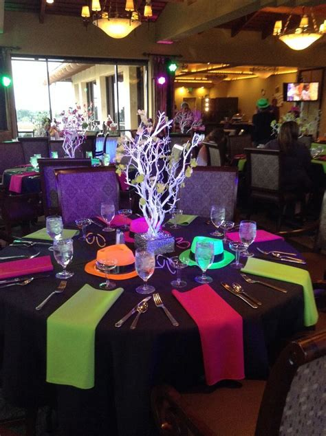high quality neon decorations  neon party table