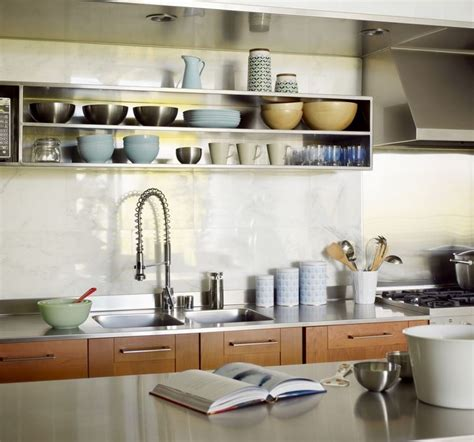 sparkling kitchens  open shelving