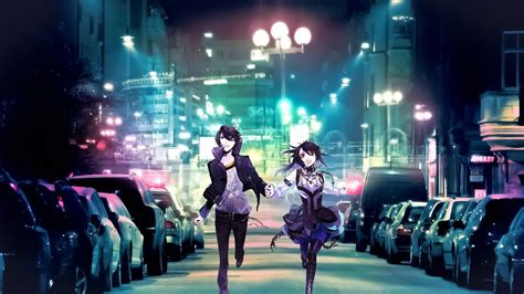 Anime City Wallpaper - anime city lights colorful