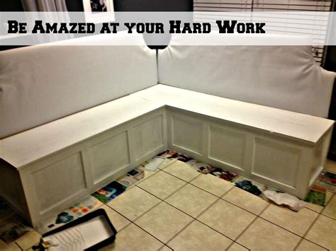 diy kitchen cabinets less than 250 dio home improvements remodelaholic build a custom corner banquette bench