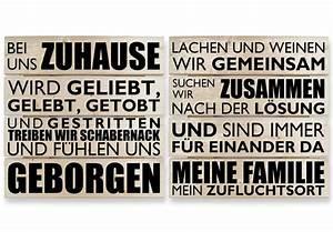 Holzbilder Mit Sprüchen : holzbild set mit schriftzug h lzerne wandbilder von k l wall art wall ~ Whattoseeinmadrid.com Haus und Dekorationen