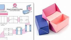 Origami Hinged Prism Gift Box Diagram
