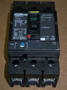 Square D Jg 250 3 Pole 225 Amp 600v Jgl36225lc Powerpact