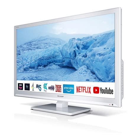 Sharp 24 Inch HD Ready LED Smart TV with Built-In DVD ...