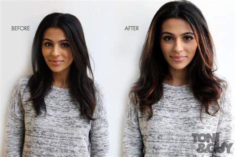 Brown Hair Vs Black Hair by Caramel Chocolate Tone Soft Balayage With Teni Panosian