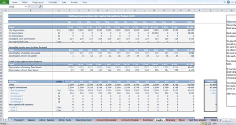 Construction Company Budget Excel Template by Construction Budget Template Cfotemplates