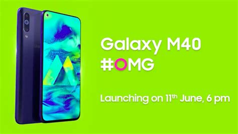 samsung m40 seen official site ahead of india launch shows front and back design