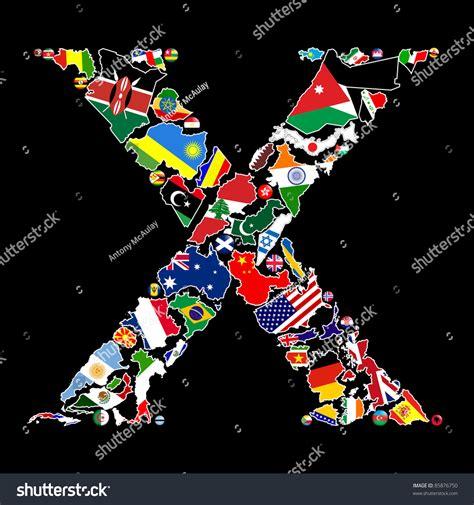flag maps flag badges some countries stock illustration