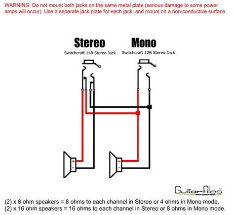 2 x 12 mono stereo speaker wiring 2 x 8 ohm speakers