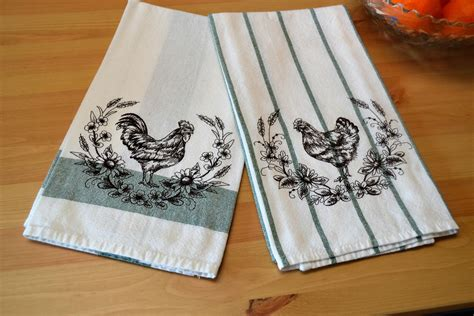 Kitchen Towel by Rooster And Hen Kitchen Towel Set Chicken Kitchen Towels