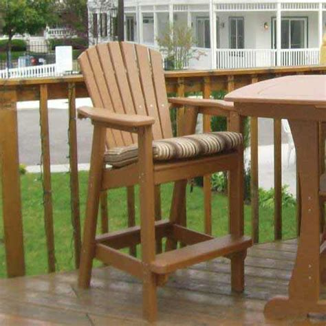 bar height adirondack dining chair dfohome