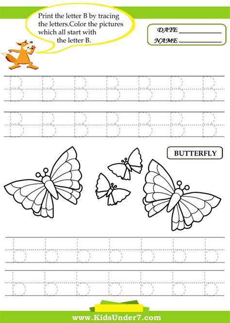 free trace the letter b coloring pages