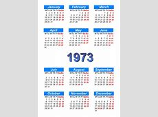 Calendar 1973 to print and download in PDF abccalendar