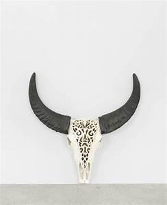 Tete D Animal Murale : tete murale iopi forme taureau aluminium argent taate decoration cerf carton animal deco danimal ~ Teatrodelosmanantiales.com Idées de Décoration