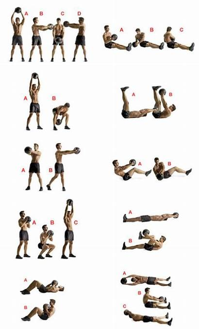 Workout Medicine Ball Exercises Workouts Kettlebell Fitness