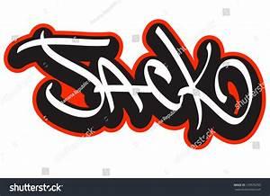 Jack Graffiti Font Style Name Hiphop Stock Vector ...
