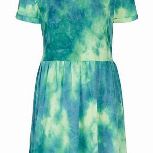 Neon Tie Dye Mini Dress Dresses from TOPSHOP