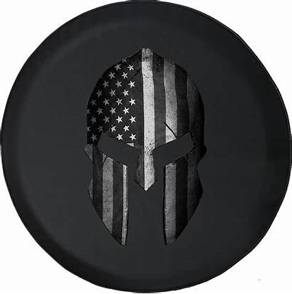Helmet Spartan Flag Tire American Spare Military