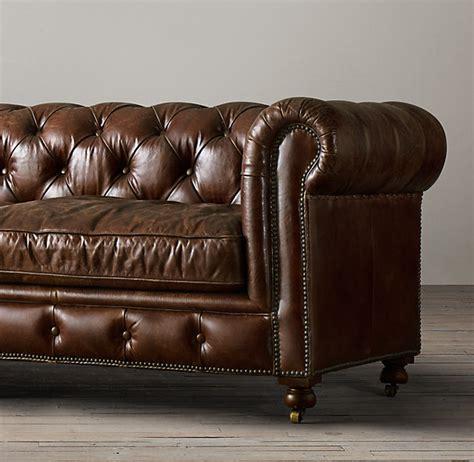 Petite Kensington Leather Sofa