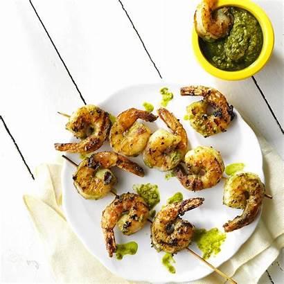 Shrimp Lemon Pesto Grilled Pistachio Recipe Taste