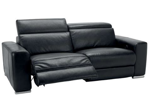pied de canapé conforama canapé relaxation 3 places stan coloris noir conforama