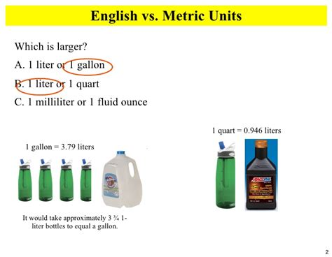 2 liters into ml metric volume
