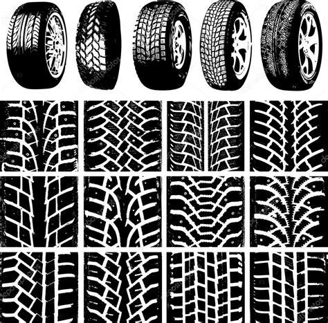 car wheels  tyre tracks stock vector