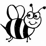 Bee Bumble Coloring Colouring Printable Outline sketch template