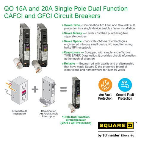 Square Amp Single Pole Dual Function Cafci